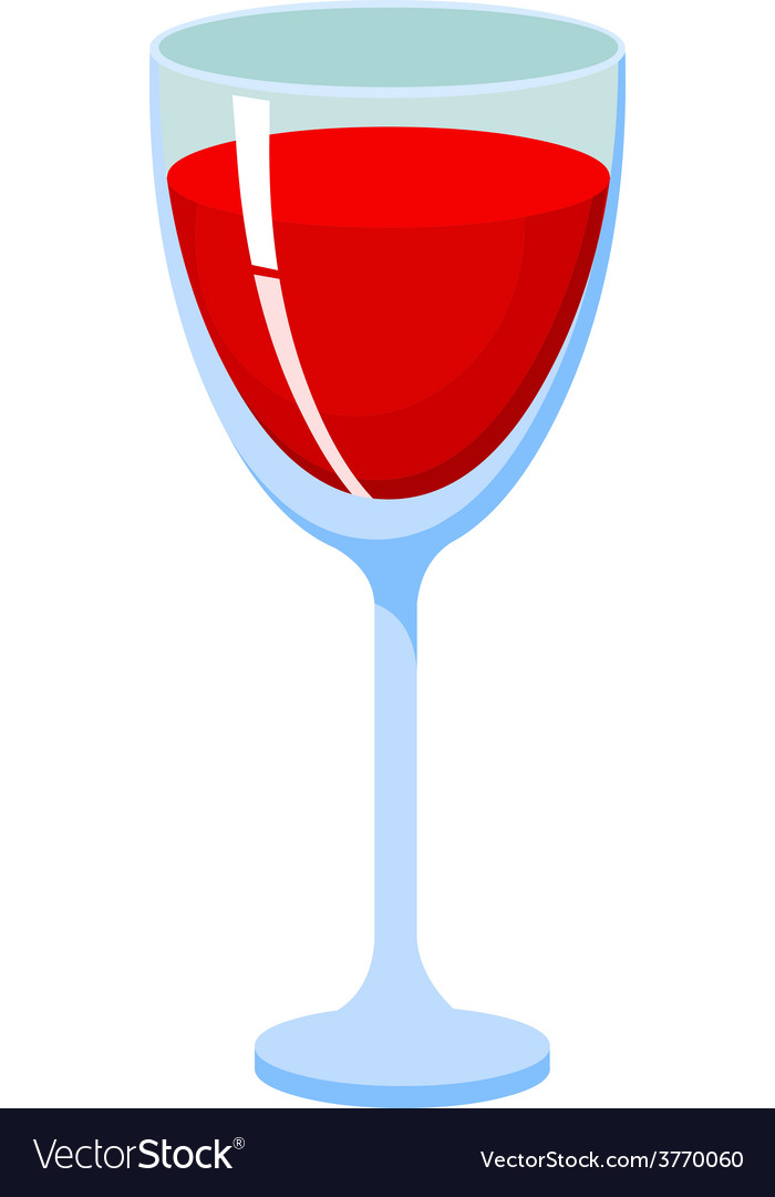 Glass with red liquid vector   Price: 1 Credit (USD $1)