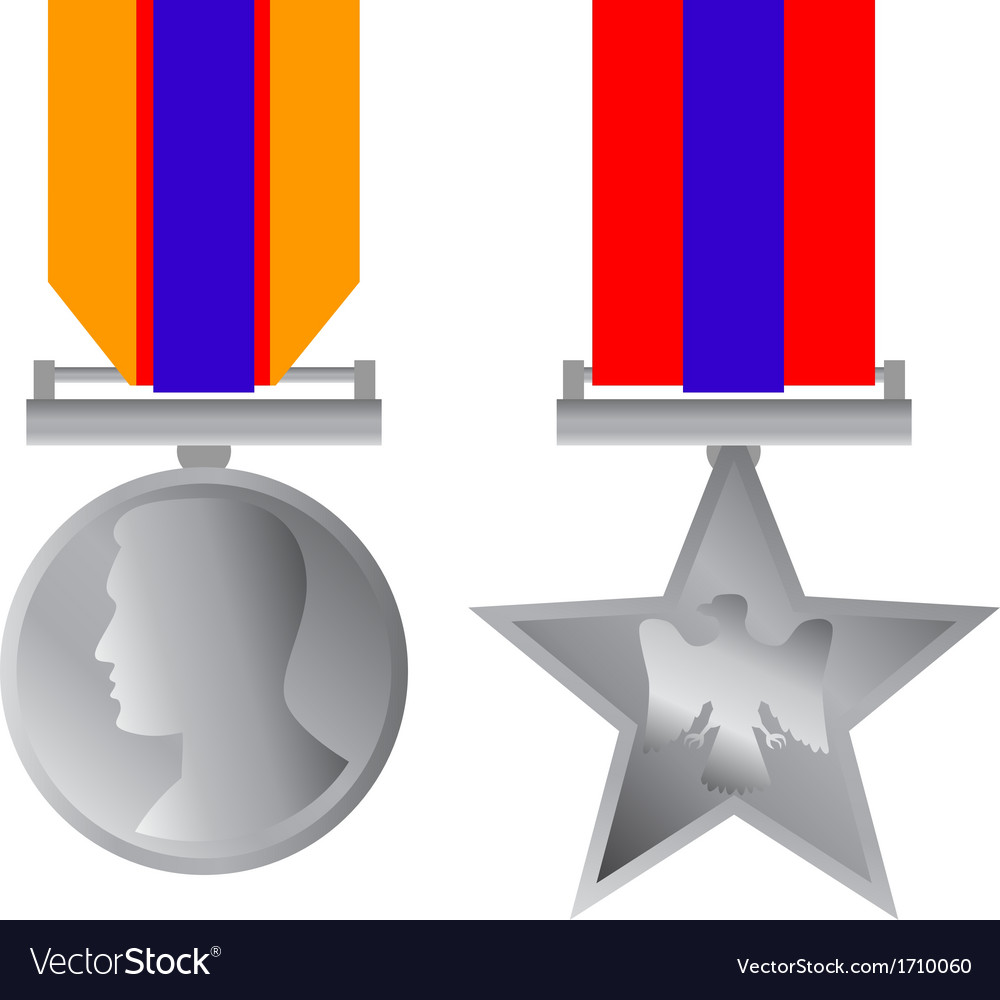 Military bravery medal of honor isolated vector | Price: 1 Credit (USD $1)