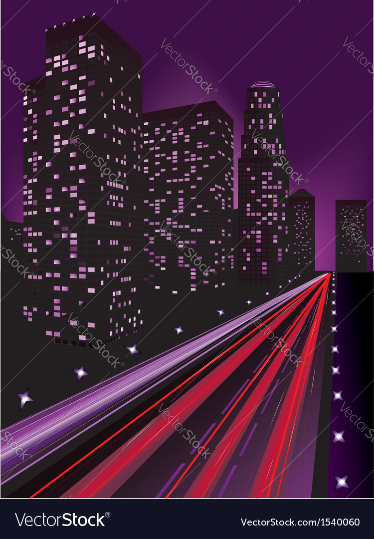 Night city3 vector | Price: 1 Credit (USD $1)