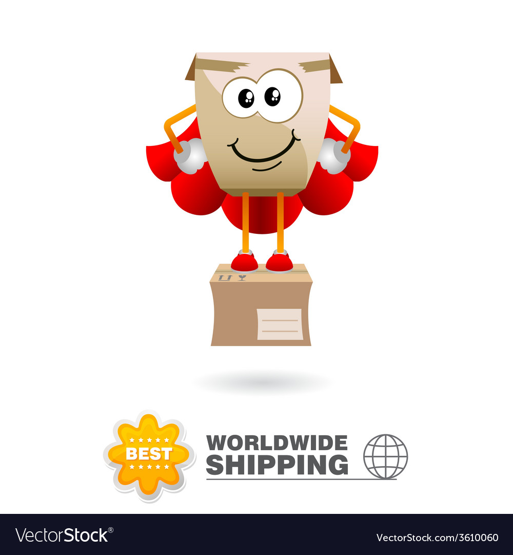 Shipping delivery character vector | Price: 1 Credit (USD $1)