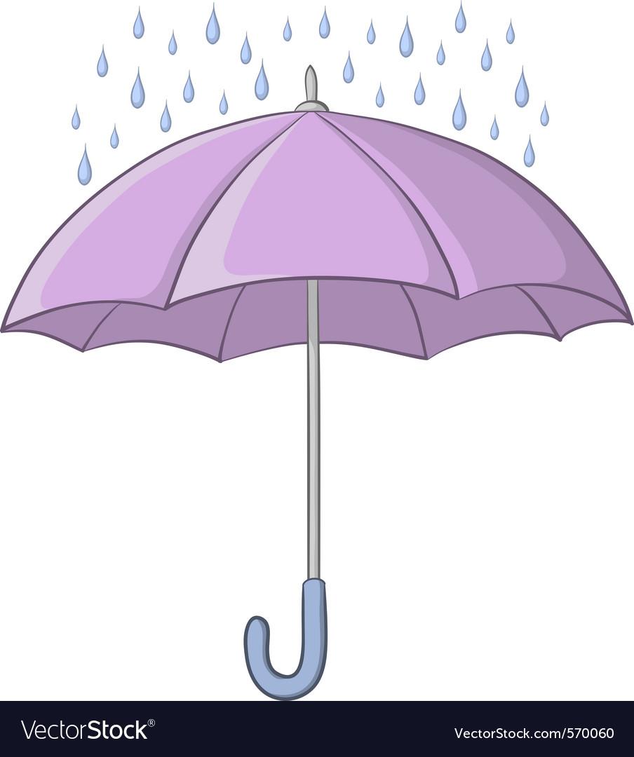 Umbrella and rain vector | Price: 1 Credit (USD $1)
