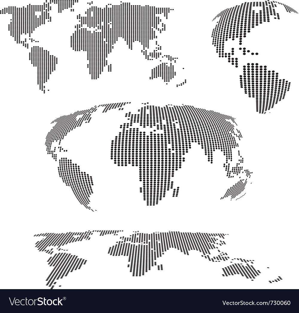 World maps halftone vector | Price: 1 Credit (USD $1)