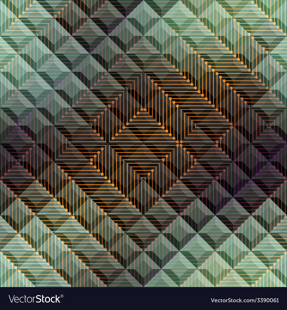 Abstract matrix pattern on geometric background vector | Price: 1 Credit (USD $1)