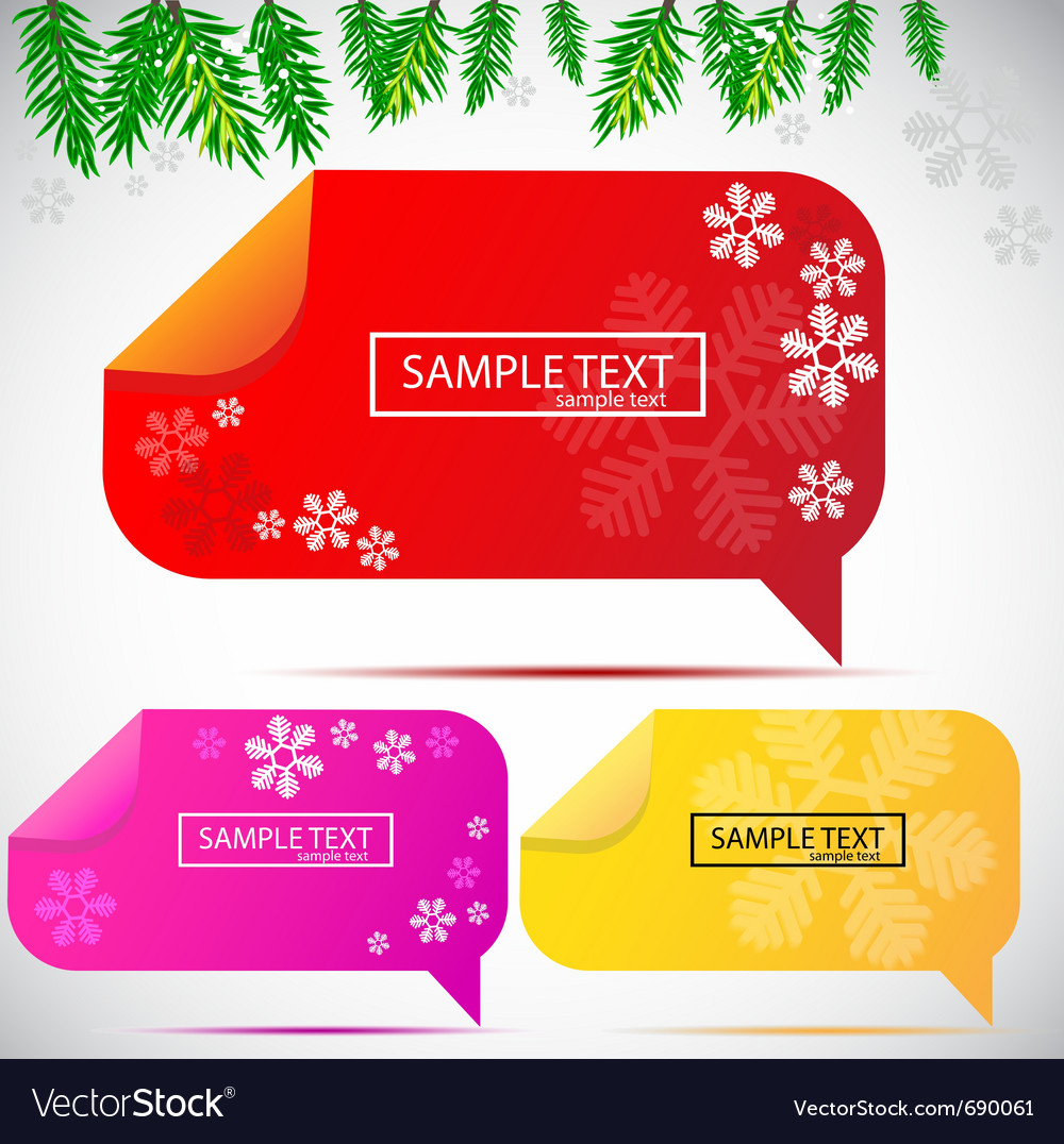 Christmas bubbles for speech vector | Price: 1 Credit (USD $1)