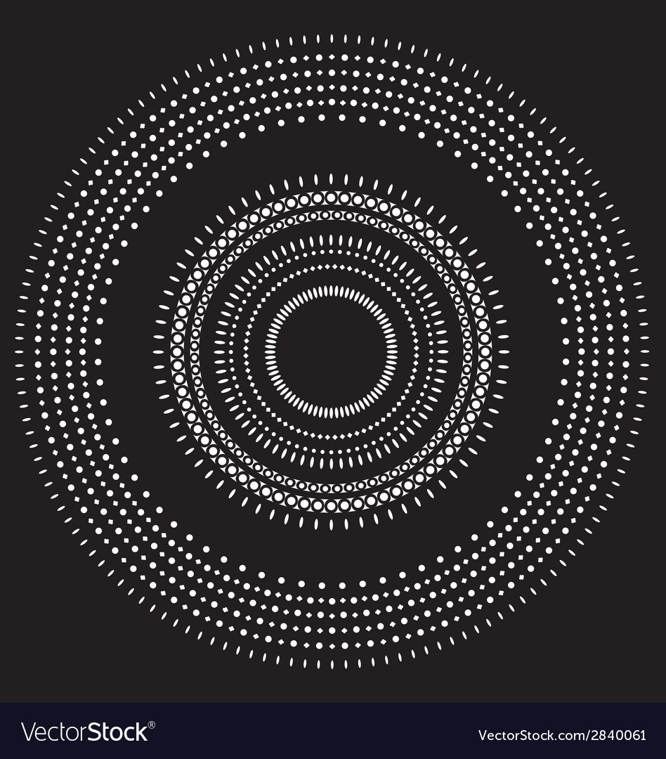 Circle pattern wallpaper vector | Price: 1 Credit (USD $1)