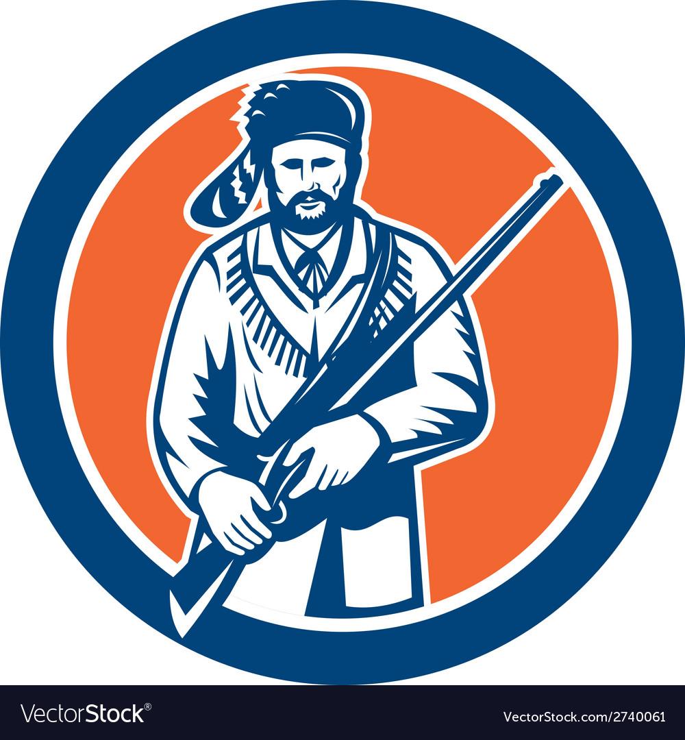 Davy crockett american frontiersman vector | Price: 1 Credit (USD $1)