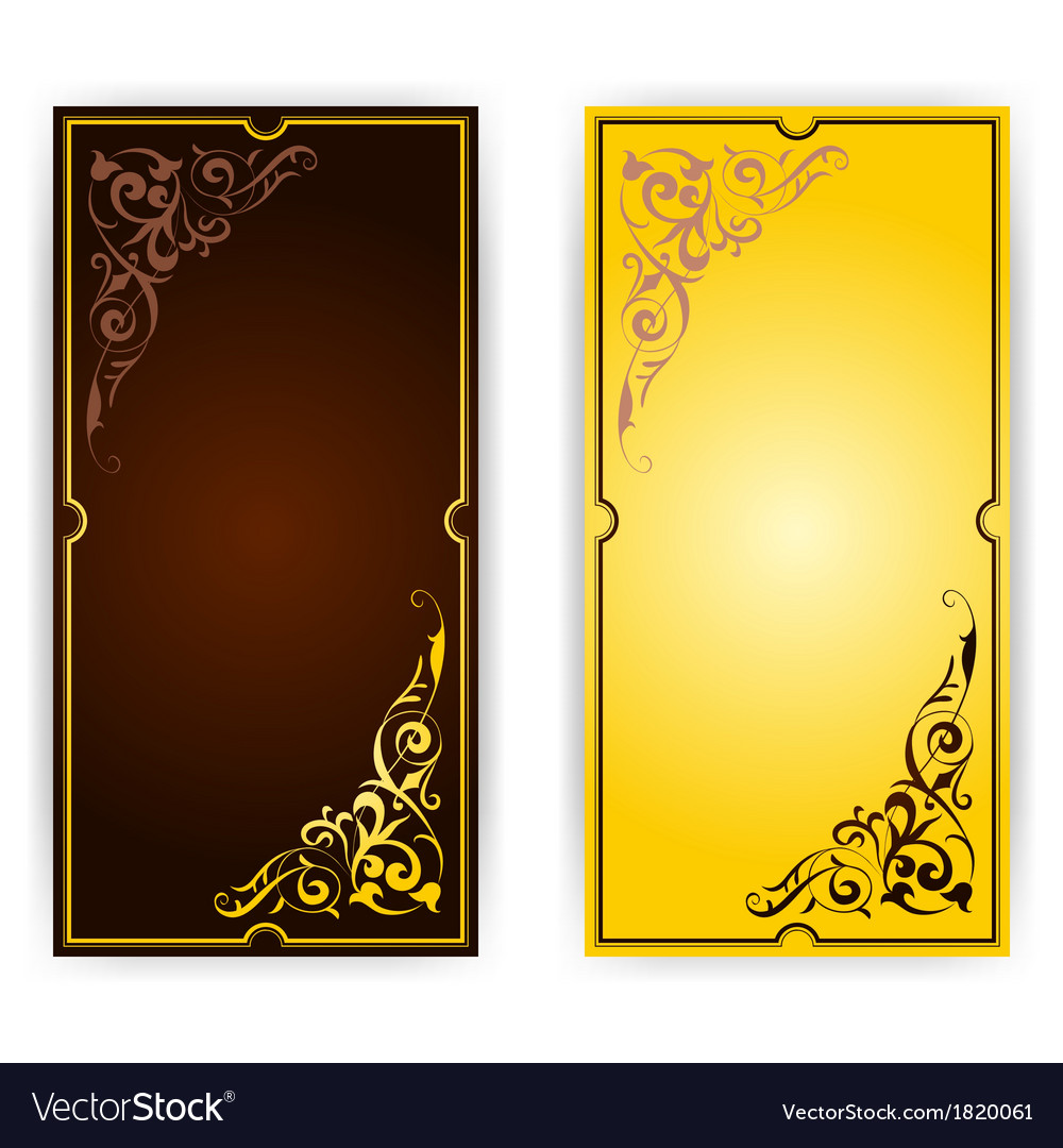 Elegant template for greeting card invitation vector | Price: 1 Credit (USD $1)
