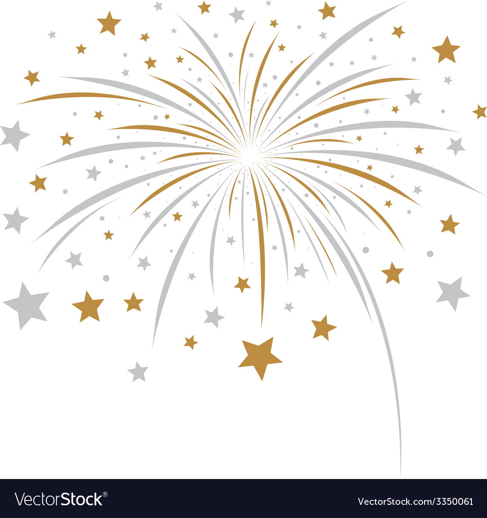 Firework design on white background vector | Price: 1 Credit (USD $1)