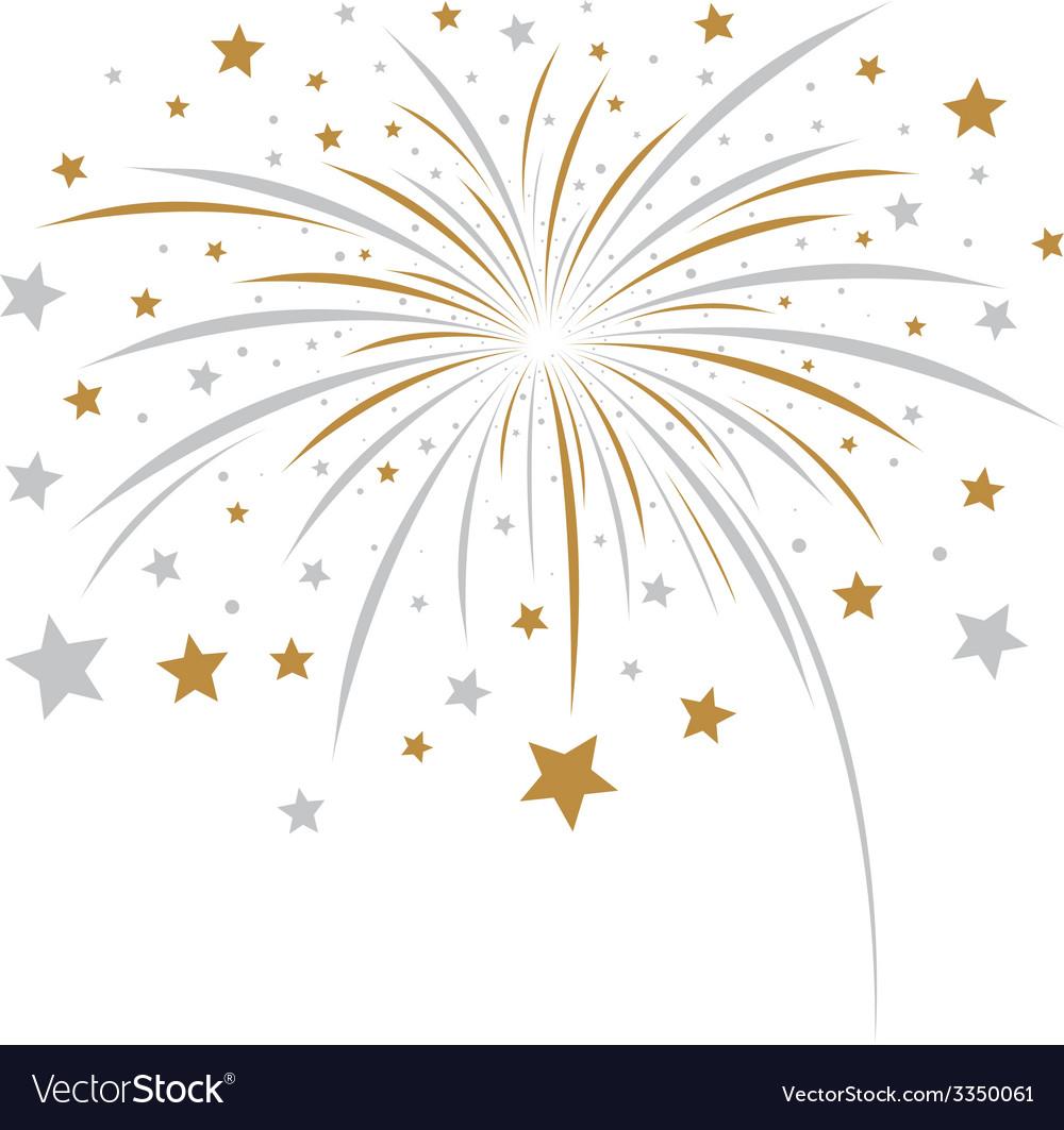 Firework design on white background vector | Price: 1 Credit (USD $1)