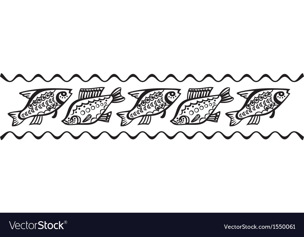 Fish pattern vector | Price: 1 Credit (USD $1)