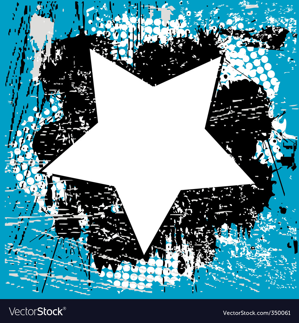 Grunge star vector | Price: 1 Credit (USD $1)