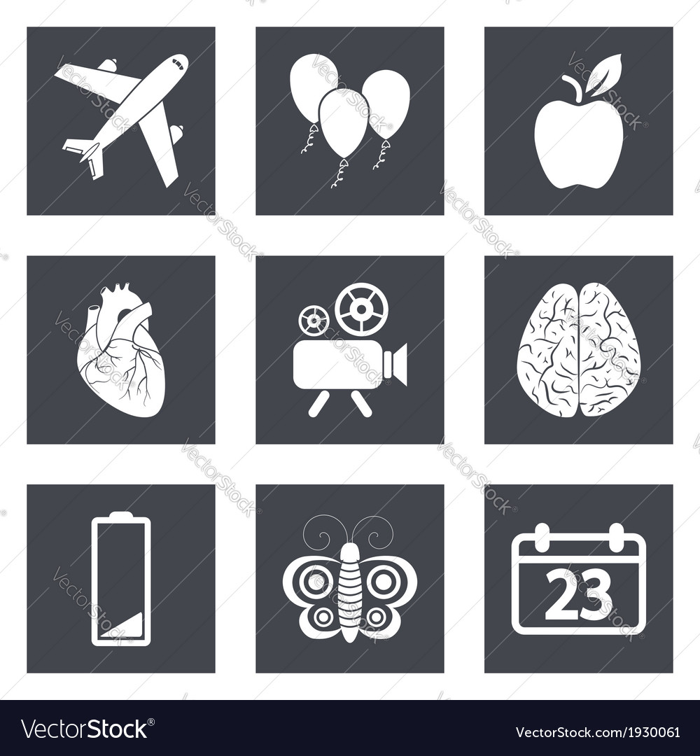 Icons for web design and mobile applications set 2 vector | Price: 1 Credit (USD $1)