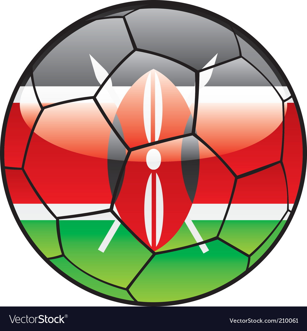 Kenya flag on soccer ball vector | Price: 1 Credit (USD $1)