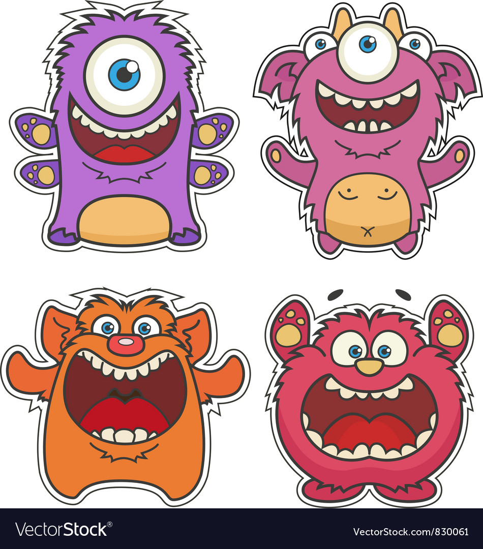 Monsters vector | Price: 3 Credit (USD $3)