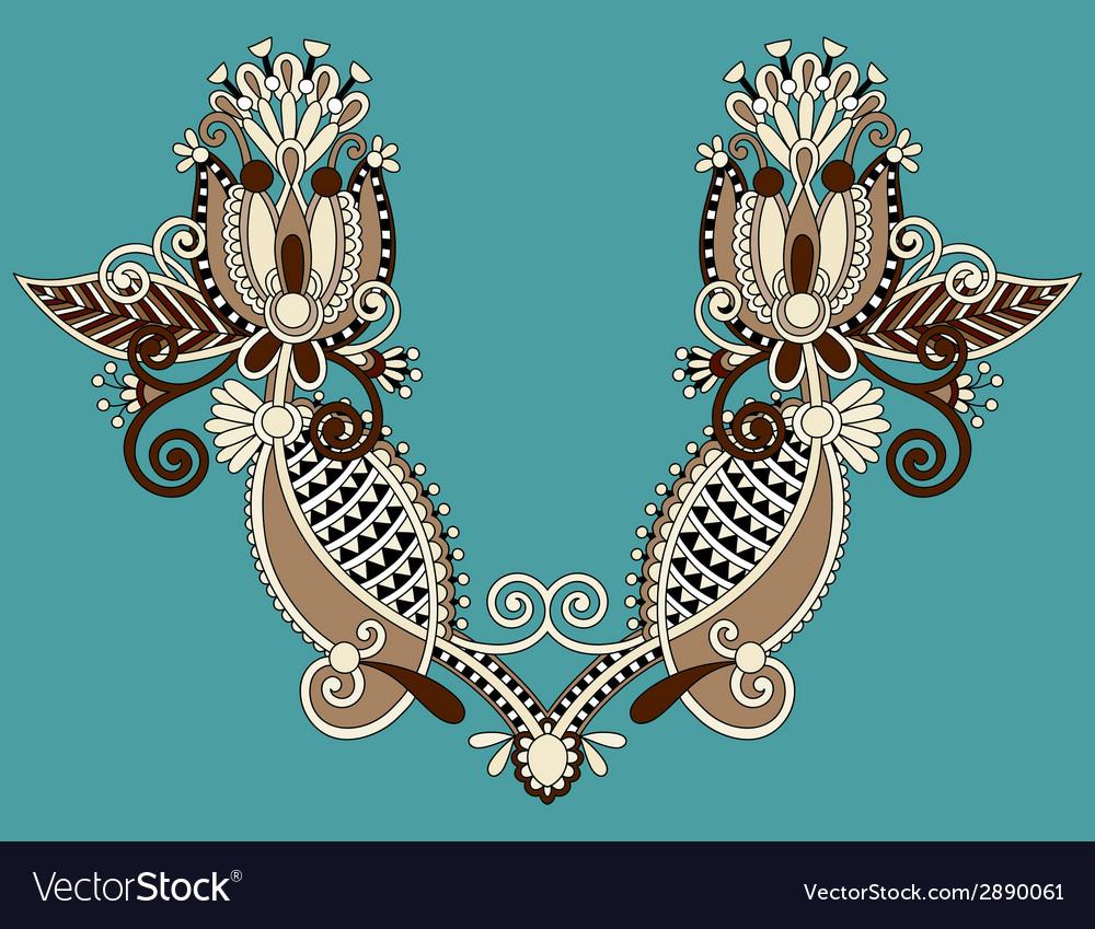 Neckline embroidery fashion vector | Price: 1 Credit (USD $1)