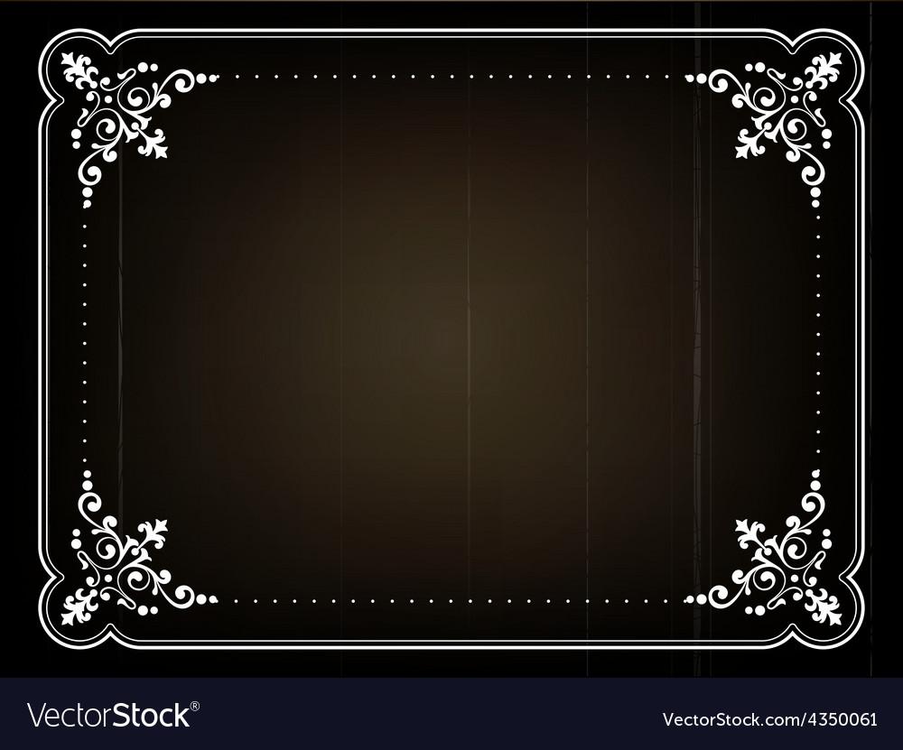 Old movie frame vector | Price: 1 Credit (USD $1)