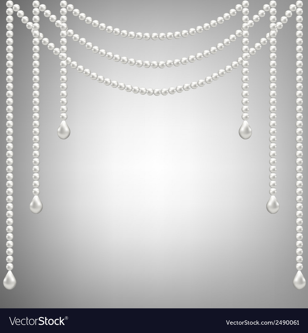 Pearl necklace vector | Price: 1 Credit (USD $1)