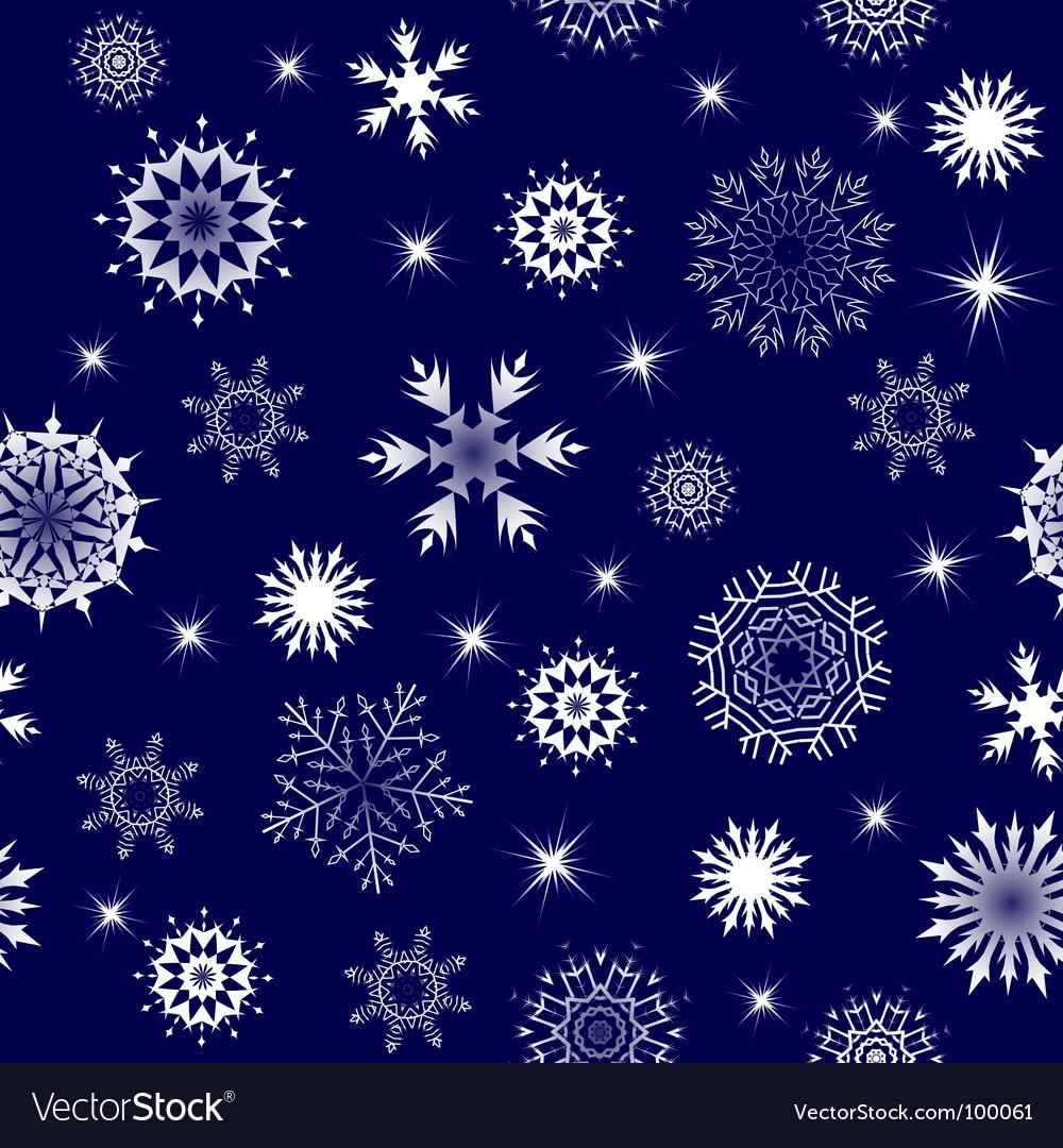 Seamless snowflakes vector | Price: 1 Credit (USD $1)
