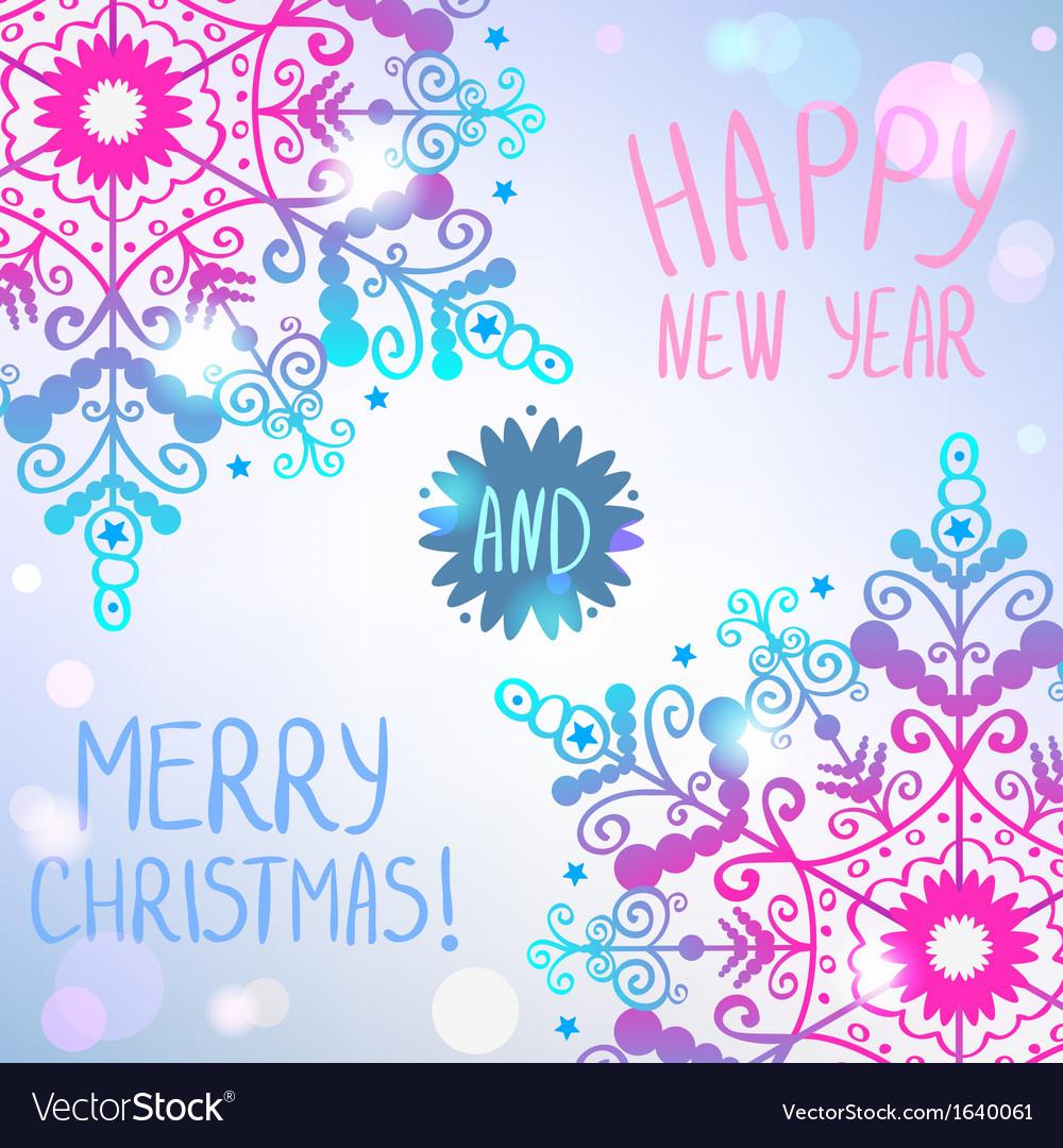 Snowflake card vector | Price: 1 Credit (USD $1)