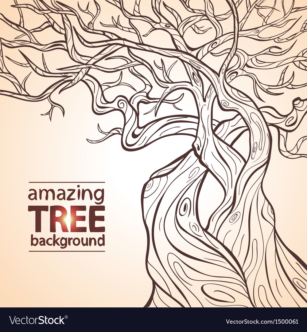 Tree amazing vector | Price: 1 Credit (USD $1)