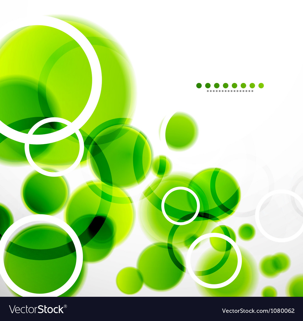 Abstract shapes background green bubbles vector | Price: 1 Credit (USD $1)