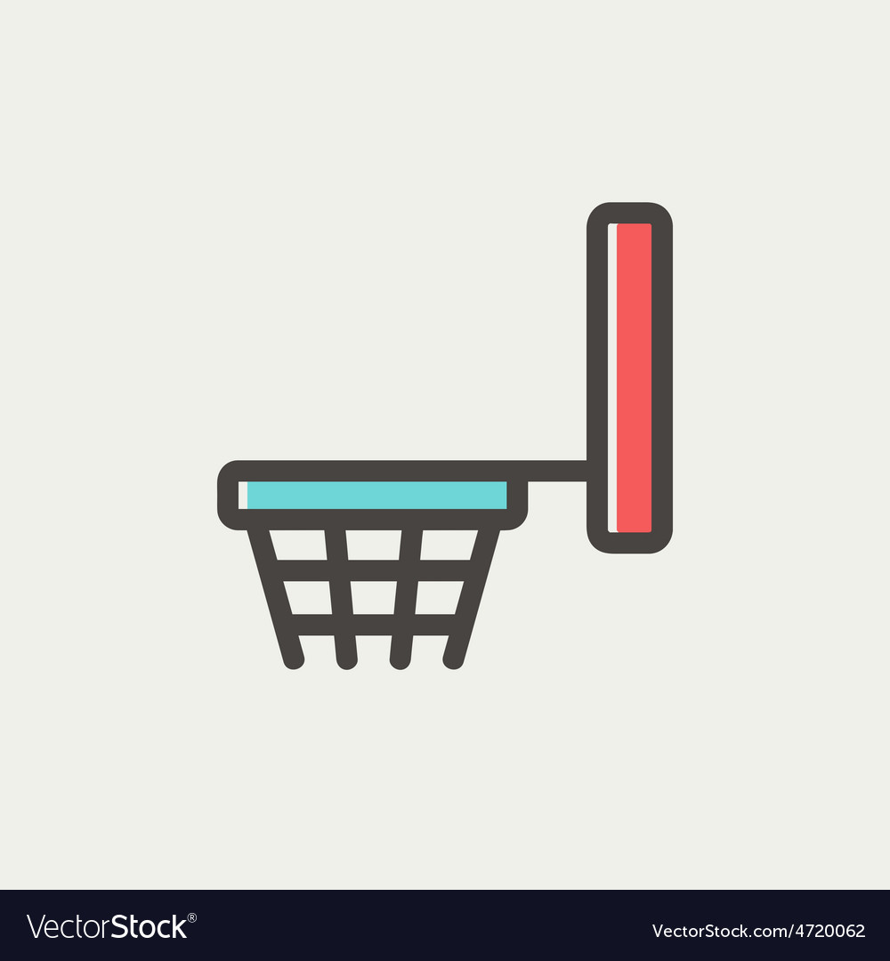 Basketball hoop thin line icon vector | Price: 1 Credit (USD $1)