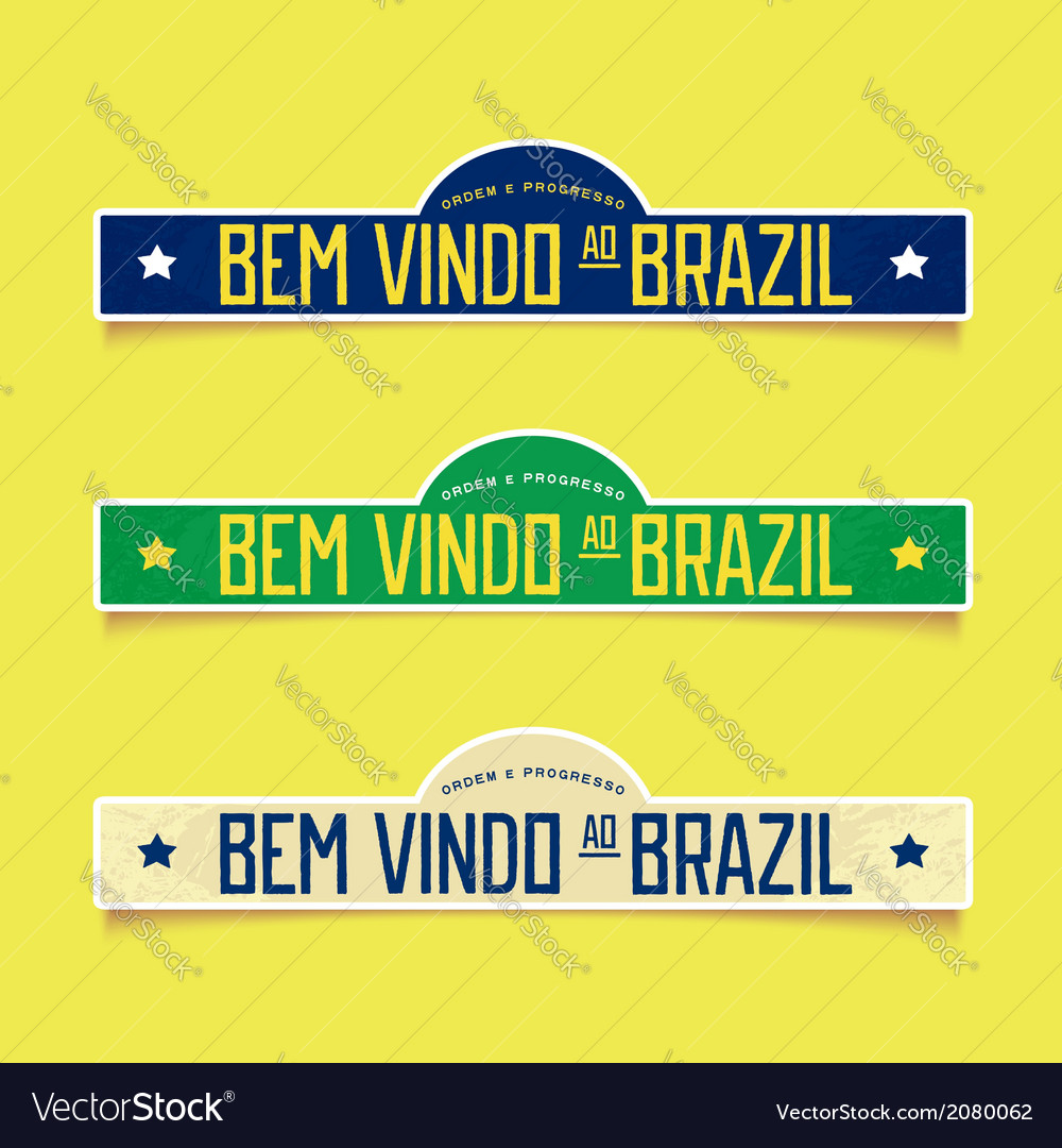 Bright labels - welcome to brazil vector   Price: 1 Credit (USD $1)