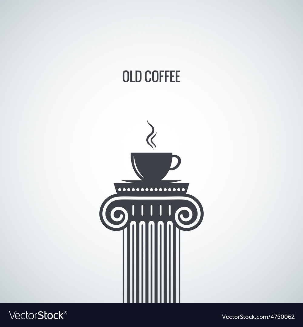 Coffee cup classic design background vector | Price: 1 Credit (USD $1)