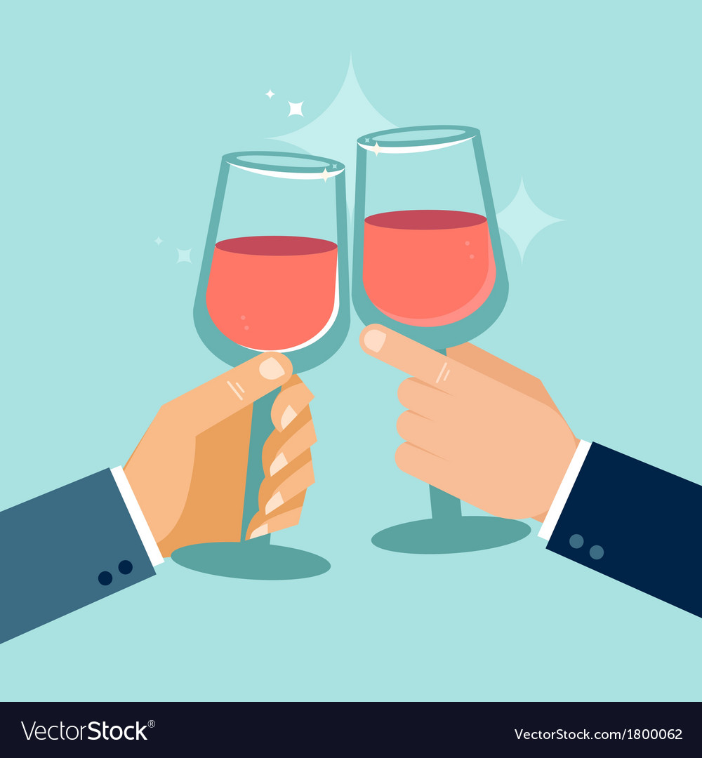 Concept in flat style - success celebration vector | Price: 1 Credit (USD $1)