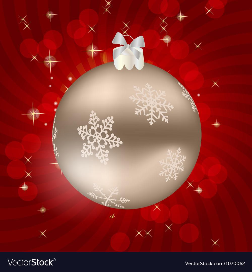 Elegant christmas bauble background vector | Price: 1 Credit (USD $1)