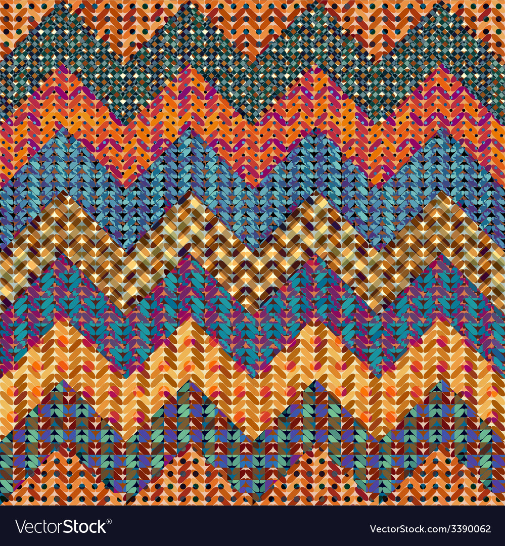 Knitted chevron vector | Price: 1 Credit (USD $1)