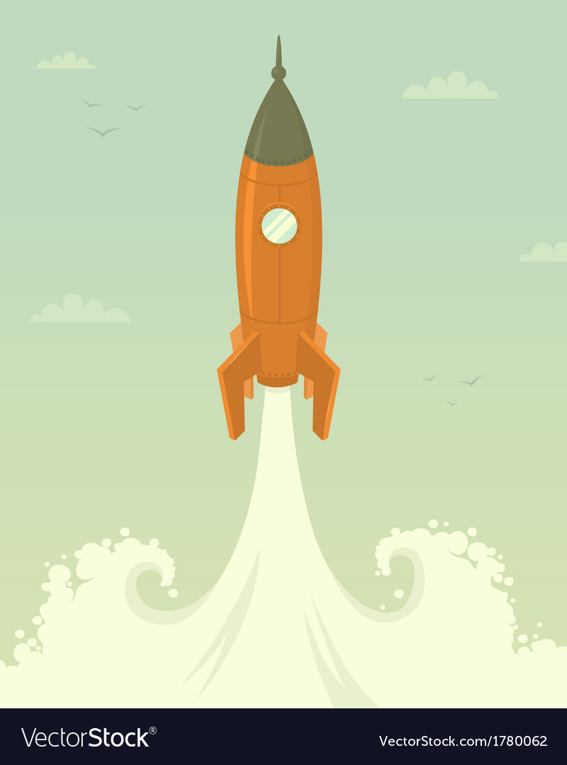Launch of space rocket vector