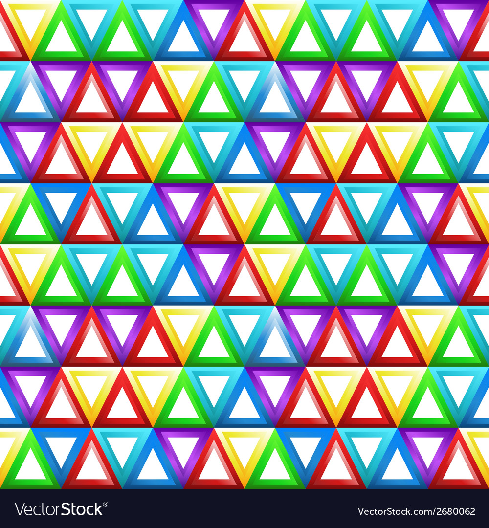 Seamless geometric pattern with triangles in vector | Price: 1 Credit (USD $1)