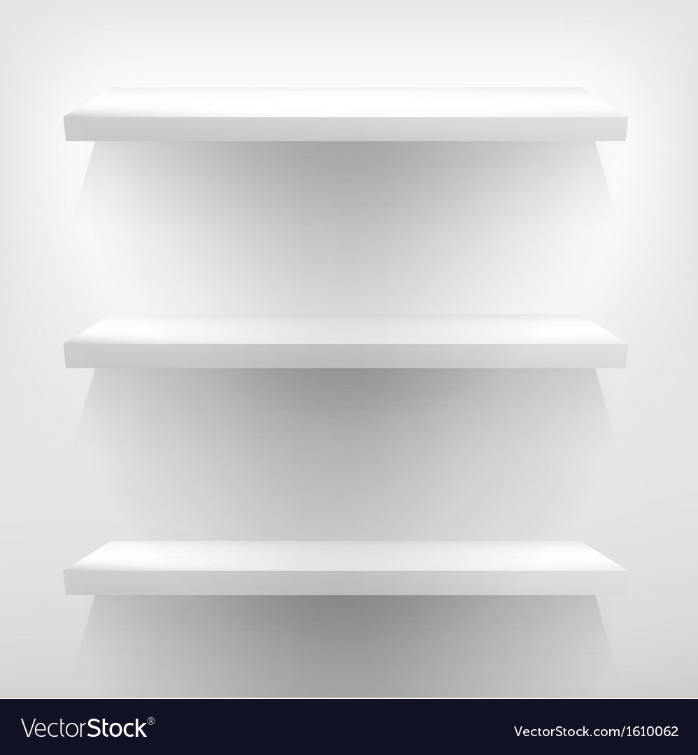 White shelves with light  eps10 vector | Price: 1 Credit (USD $1)