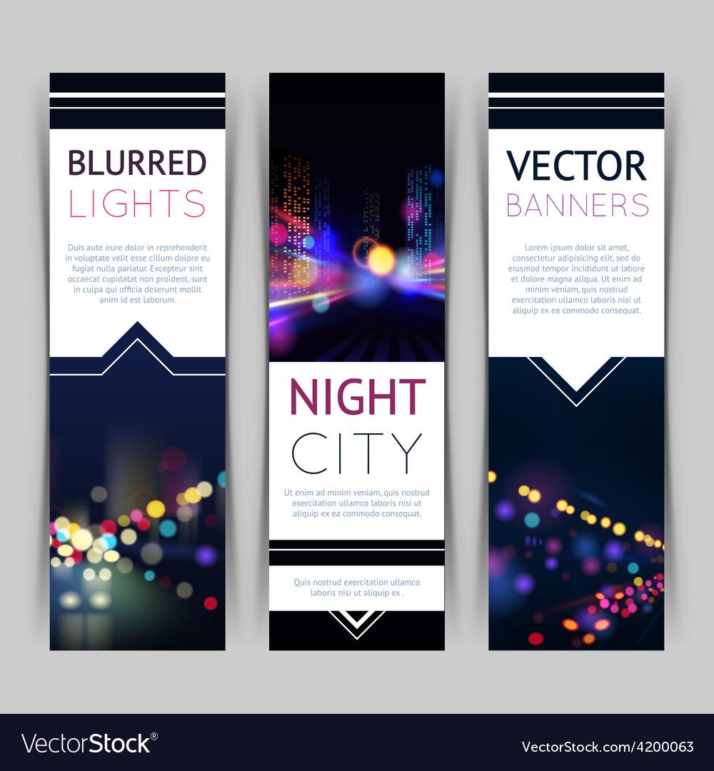 City banner vertical vector | Price: 1 Credit (USD $1)