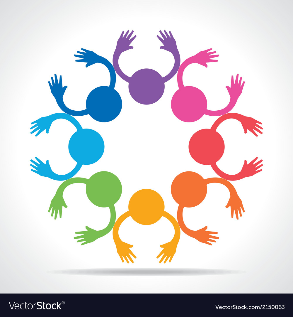 Colorful people connection concept vector | Price: 1 Credit (USD $1)