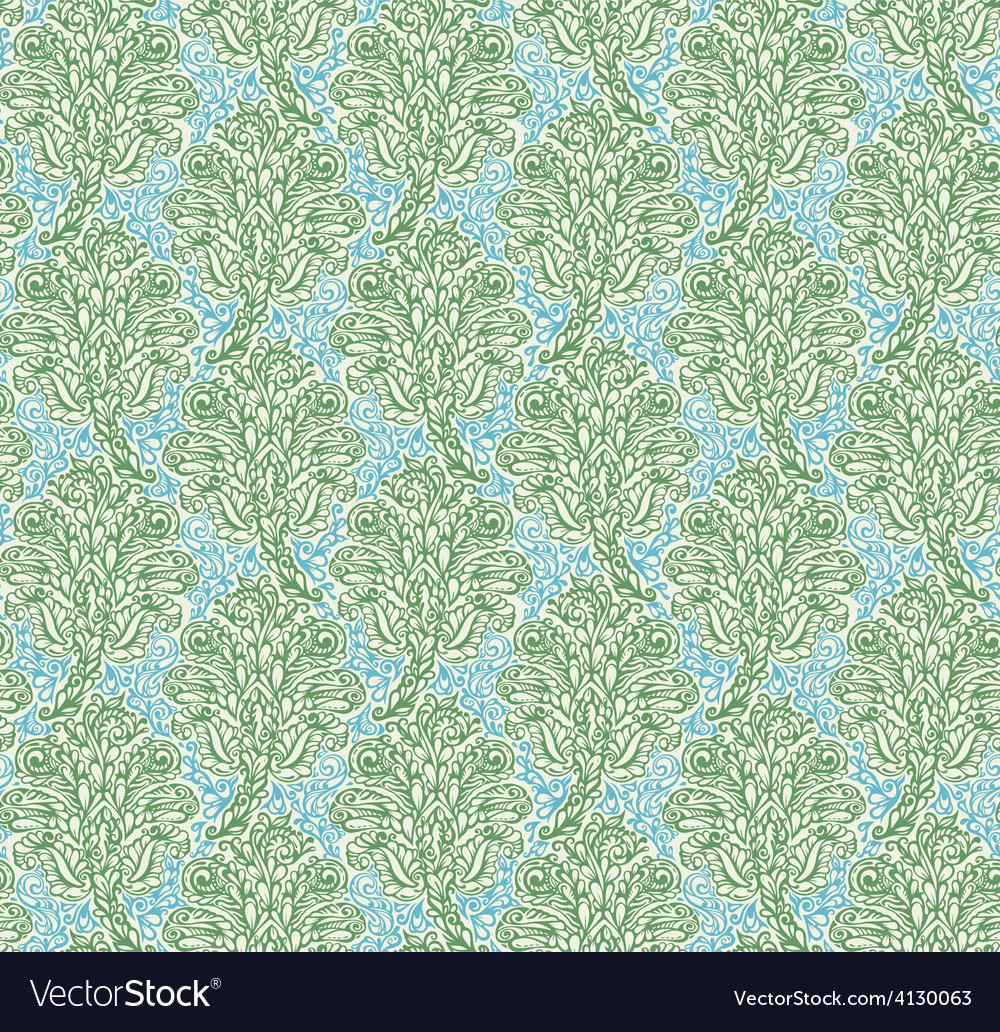 Floral seamless pattern in renaissance style vector | Price: 1 Credit (USD $1)
