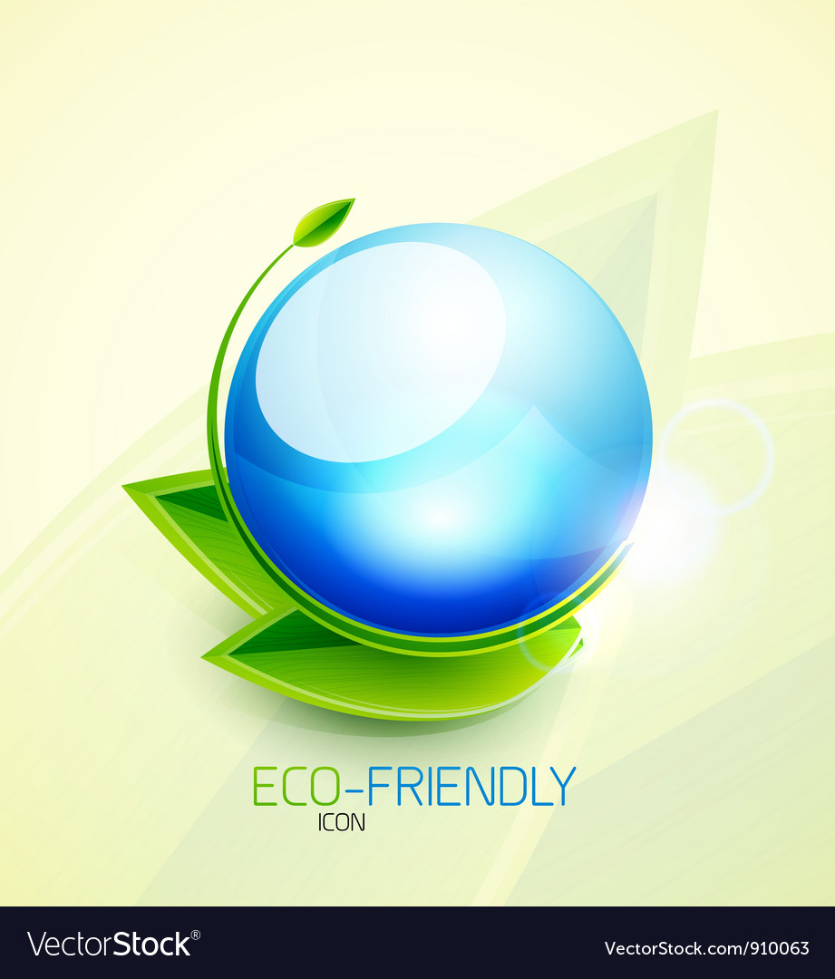 Green concept icon vector | Price: 1 Credit (USD $1)