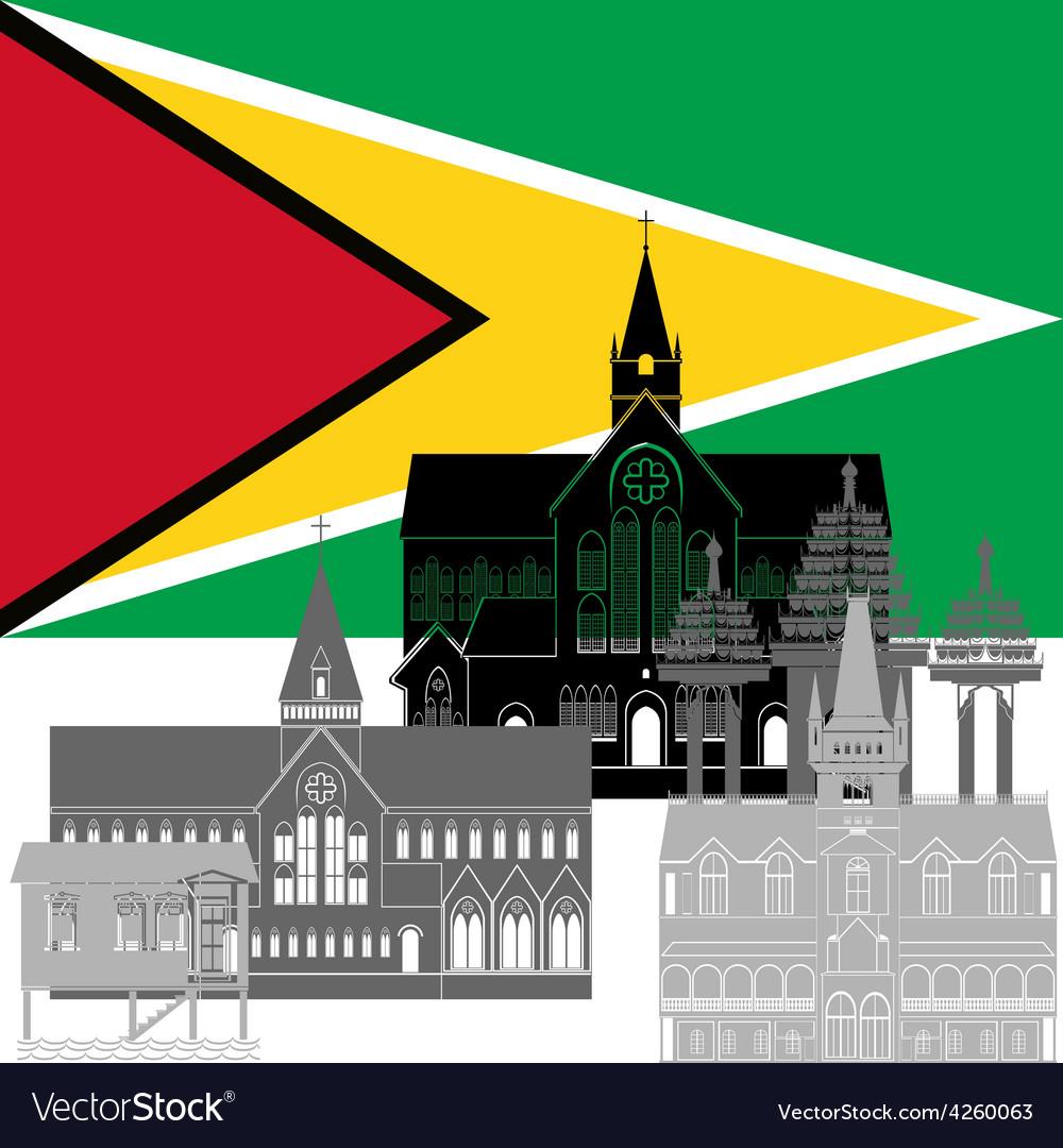 Guyana vector | Price: 1 Credit (USD $1)