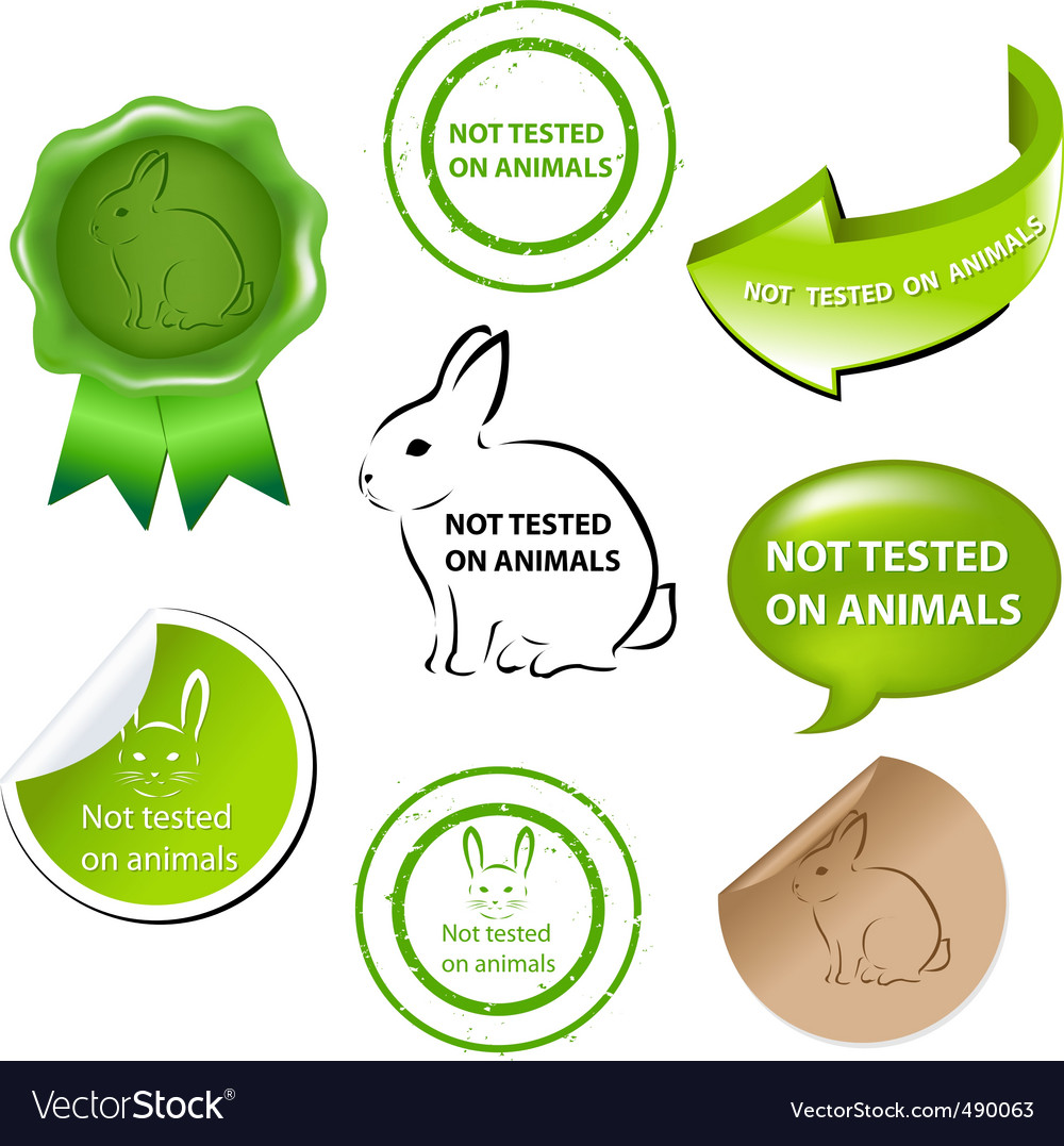 Not tested on animals vector | Price: 1 Credit (USD $1)