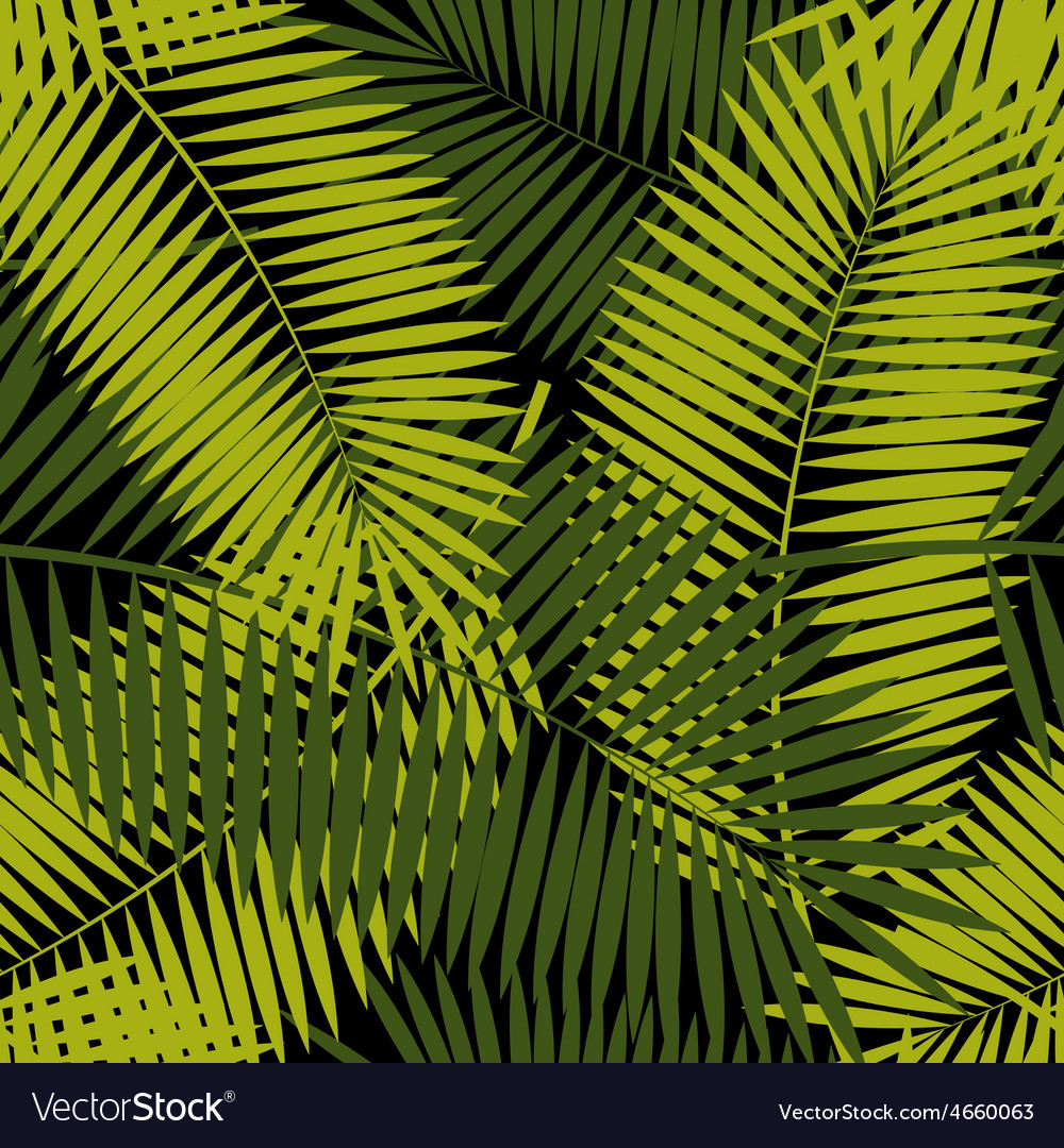 Palm leaf seamless pattern background vector | Price: 1 Credit (USD $1)