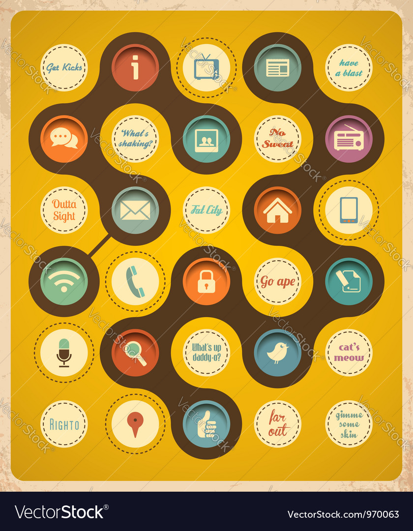 Retro communication concept vector | Price: 1 Credit (USD $1)