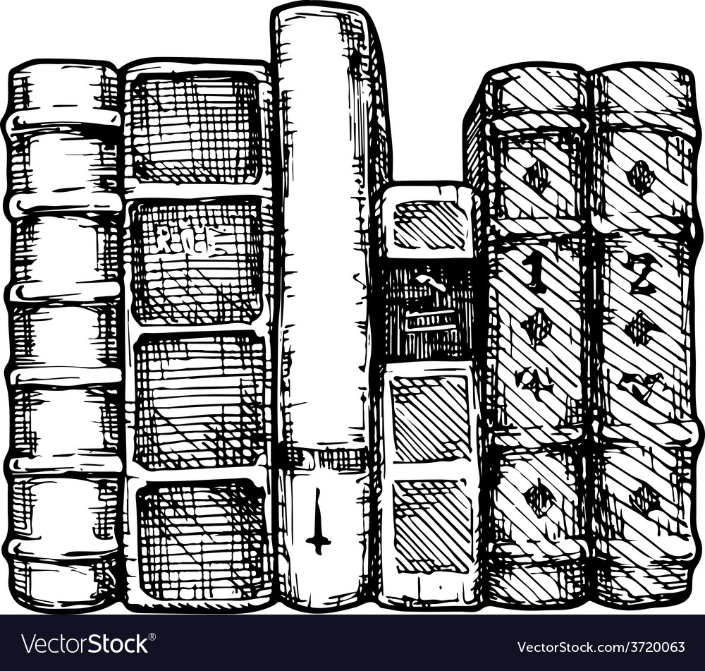 Row of books vector | Price: 1 Credit (USD $1)