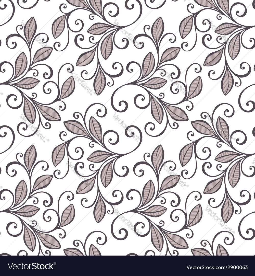 Seamless floral pattern vector | Price: 1 Credit (USD $1)