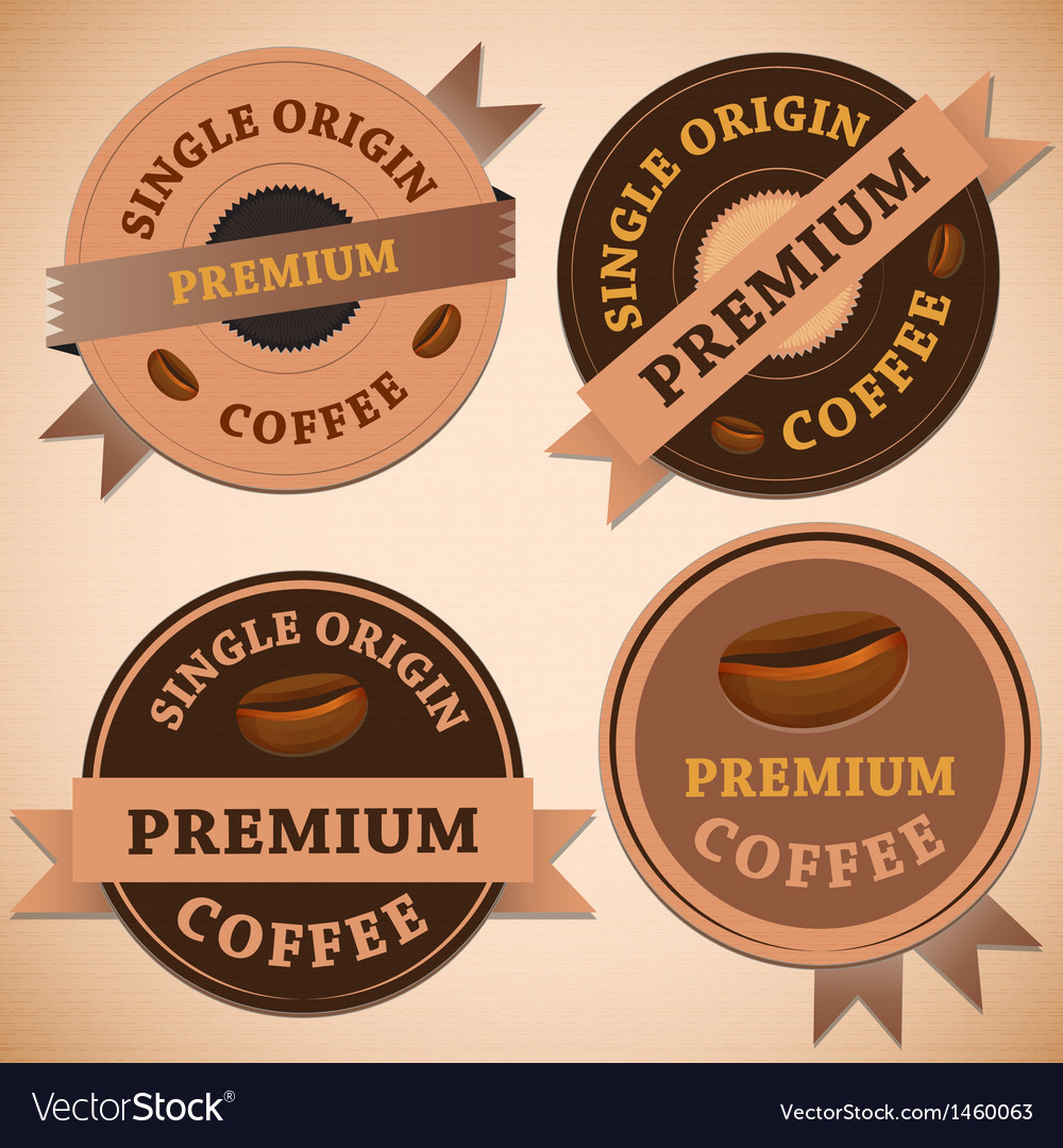 Set of vintage retro coffee badges vector | Price: 1 Credit (USD $1)
