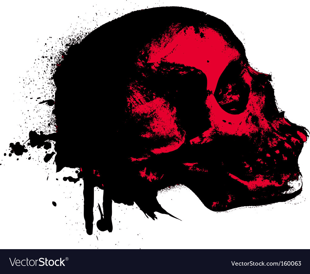 Skeleton splat vector | Price: 1 Credit (USD $1)