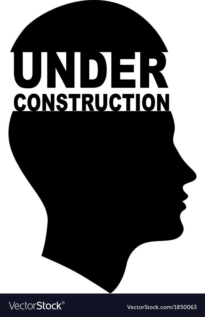 Under construction head vector | Price: 1 Credit (USD $1)