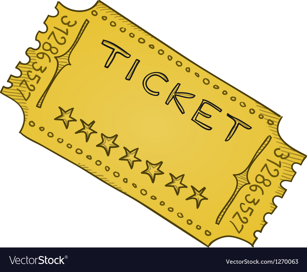 Vintage cinema ticket vector | Price: 1 Credit (USD $1)
