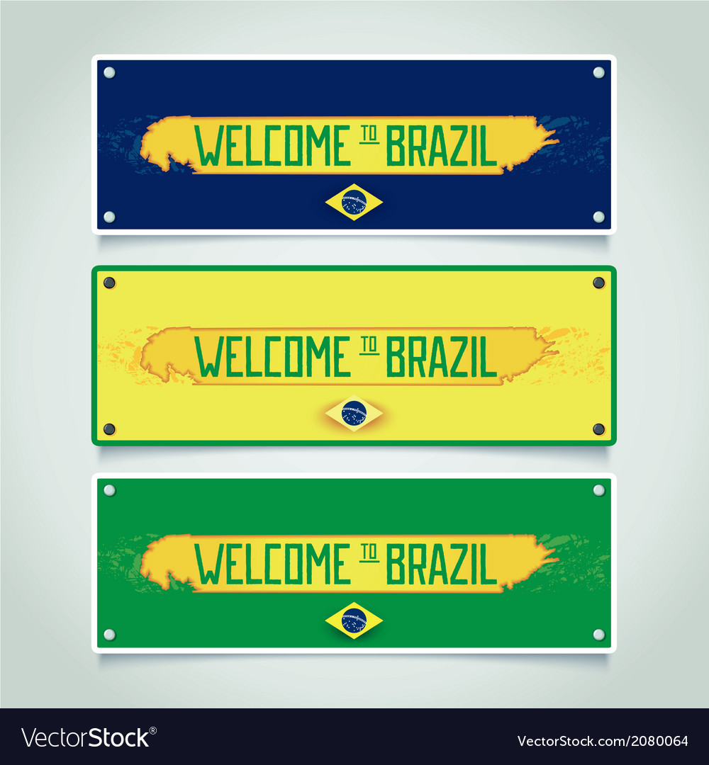 Banners set - welcome to brazil vector | Price: 1 Credit (USD $1)