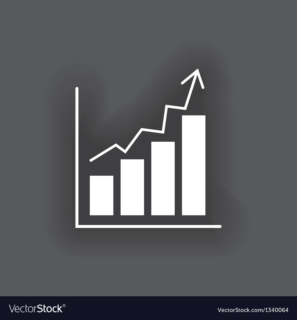 Business chart icon vector | Price: 1 Credit (USD $1)